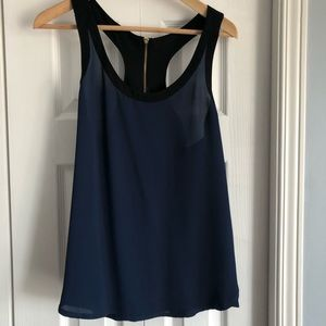 Express tank top blue and black